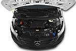 Car Stock 2019 Mercedes Benz Vito Select 4 Door Car Van Engine  high angle detail view