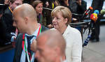 Brussels-Belgium - May 27, 2014 -- European Council, EU-summit, meeting of Heads of State / Government for an informal dinner to evaluate and to conclude the results of the European elections; here, arrival of Angela MERKEL, Federal Chancellor of Germany -- Photo: © HorstWagner.eu