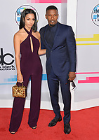 Corinne Foxx &amp; Jamie Foxx at the 2017 American Music Awards at the Microsoft Theatre LA Live, Los Angeles, USA 19 Nov. 2017<br /> Picture: Paul Smith/Featureflash/SilverHub 0208 004 5359 sales@silverhubmedia.com