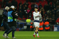 Son Heung-Min of Tottenham Hotspur after Tottenham Hotspur vs Borussia Dortmund, UEFA Champions League Football at Wembley Stadium on 13th February 2019