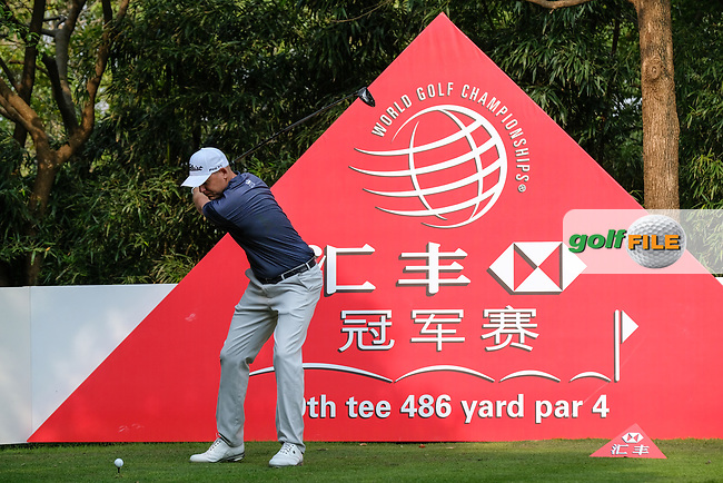 Bill Haas (USA) on the 9th during round 2 of the 2017 WGC HSBC Champions, Sheshan International Golf Club, Shanghai, China PR. 27/10/2017<br /> Picture: Golffile | Fran Caffrey<br /> <br /> <br /> All photo usage must carry mandatory copyright credit (&copy; Golffile | Fran Caffrey)