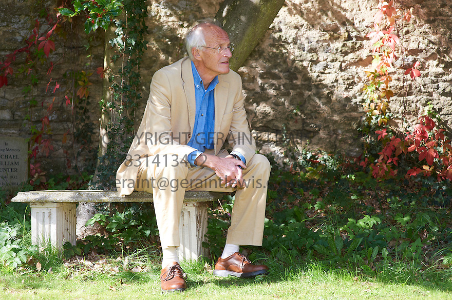 Michael Frayn,author and playwriter of the play Noises Off  at The Woodstock Literary Festival 2010 .CREDIT Geraint Lewis