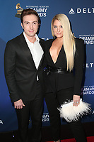 WEST HOLLYWOOD, CA - FEBRUARY 7: Daryl Sabara and Meghan Trainor at the Delta Air Line 2019 GRAMMY Party at Mondrian LA in West Hollywood, California on February 7, 2019.   <br /> CAP/MPI/SAD<br /> &copy;SAD/MPI/Capital Pictures