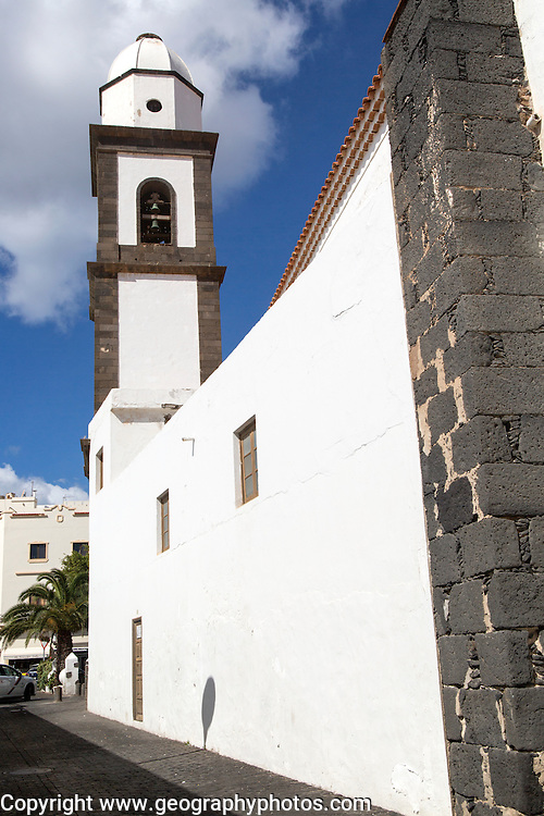 Iglesia de San Ginés, built 1665 historic church, Arrecife, Lanzarote, Canary Islands, Spain