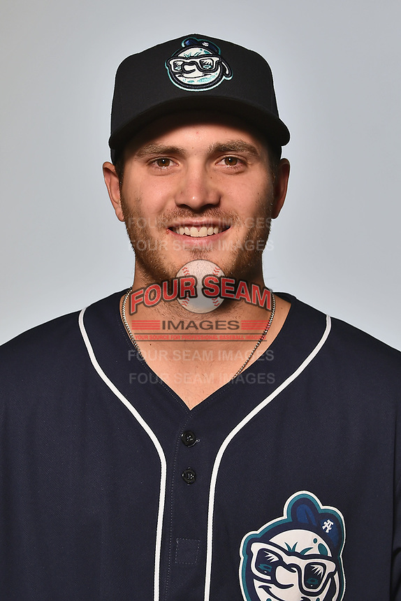 Asheville Tourists pitcher Ty Culbreth (38) poses for a photo at Story Point Media on April 4, 2017 in Asheville, North Carolina. (Tony Farlow/Four Seam Images)