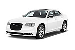 2017 Chrysler 300 C 4 Door Sedan Angular Front stock photos of front three quarter view