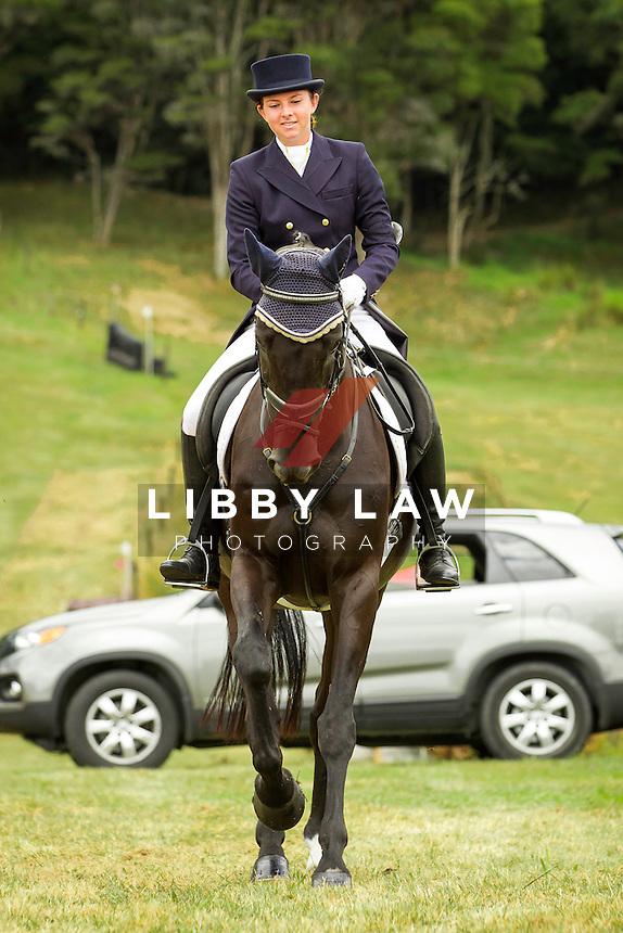 NZL-Samantha Felton (HENTON AFTER DARK)  INTERIM-2ND: TROY WHEELER CONTRACTING CNC2*PLUS: 2014 NZL-Troy Wheeler Contracting Springbush Horse Trial (Saturday 15 February) CREDIT: Libby Law COPYRIGHT: LIBBY LAW PHOTOGRAPHY - NZL
