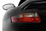 Tail light close up detail view of a 2009 Porsche Carrera Turbo