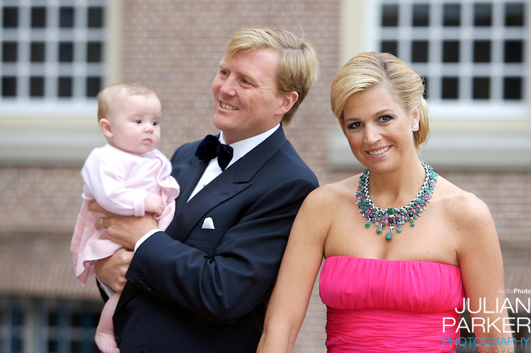 Crown Prince Willem Alexander, and Crown Princess Maxima of Holland,with their daughter Princess Ariane, arrive for a Reception at Het Loo Palace in Apeldoorn, to celebrate the 40th Birthday of Crown Prince Willem Alexander, The Prince turned forty in April earlier this year.