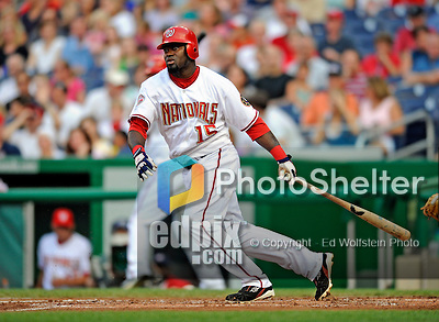 12 July 2008: Washington Nationals' shortstop Cristian Guzman in action against the Houston Astros at Nationals Park in Washington, DC. The Astros defeated the Nationals 6-4 in the second game of their 3-game series...Mandatory Photo Credit: Ed Wolfstein Photo