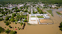 Flooding in Spencer, Indiana (05.07.2017)