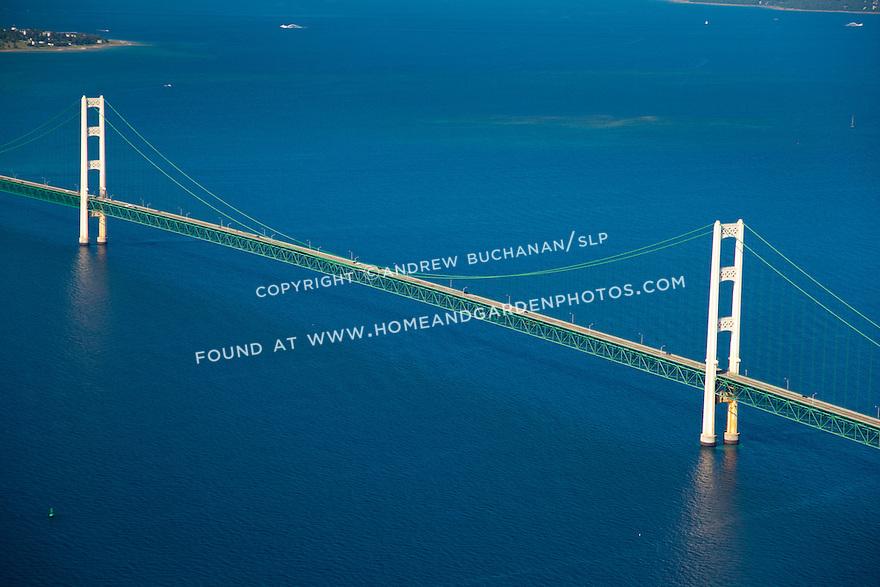 tower details of the Mackinac Bridge, Michigan