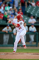 Peoria Chiefs catcher Brian O'Keefe (32) at bat during a game against the West Michigan Whitecaps on May 9, 2017 at Dozer Park in Peoria, Illinois.  Peoria defeated West Michigan 3-1.  (Mike Janes/Four Seam Images)