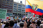 NEW YORK - May 1:  Migrant workers protest in Union Square to Arizona new proposed law to combat illegal immagrants. May 1, 2010 in New York City.  (Photo by Donald Bowers)