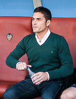 Francisco Rodríguez at Almeria coach, at Levante U.D. 1 - 0 Almeria C.F. in BBVA League match played at the Ciudad de Valencia stadium (Valencia). Scoreboard: Barral for Levante. (photo: Francesc Juan)