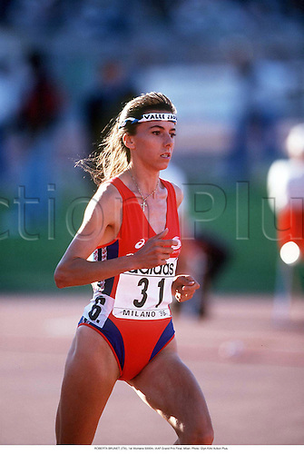 ROBERTA BRUNET, (ITA), 1st Womens 5000m, IAAF Grand Prix Final, Milan 960907 Photo: Glyn Kirk/ Action Plus....1996.athletics.woman.track and field.female