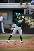 Siena Saints center fielder Ryan McGee (4) at bat during a game against the UCF Knights on February 17, 2019 at John Euliano Park in Orlando, Florida.  UCF defeated Siena 7-1.  (Mike Janes/Four Seam Images)
