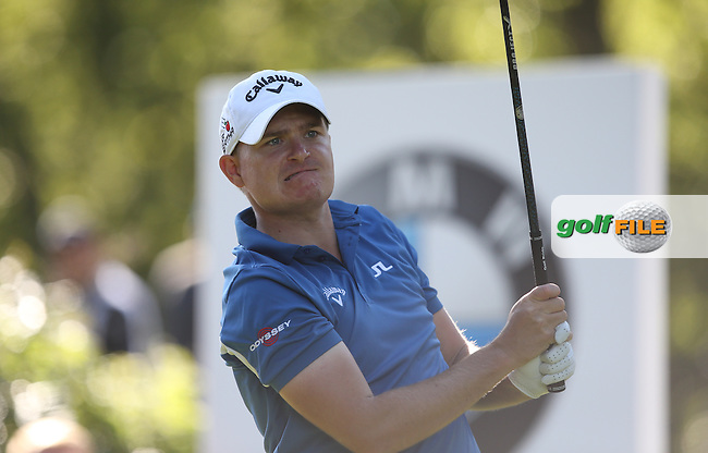 James MORRISON (ENG) drives the 17th during Round One of the 2015 BMW PGA Championship over the West Course at Wentworth, Virginia Water, London. 21/05/2015Picture David Lloyd, www.golffile.ie.