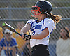 Patty McGloin #13, North Babylon right fielder, plates a run with a sacrifice fly in the bottom of the third inning of a Suffolk County League V varsity softball game against West Islip at North Babylon High School on Wednesday, May 9, 2018. North Babylon won by a score of 4-1.