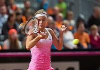 Februari 08, 2015, Apeldoorn, Omnisport, Fed Cup, Netherlands-Slovakia, Arantxa Rus (NED)   <br /> Photo: Tennisimages/Henk Koster