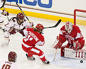 Kristyn Capizzano (BC - 7), Alexandra Calderone (BU - 11), Erin O'Neil (BU - 31) - The Boston College Eagles defeated the visiting Boston University Terriers 5-3 (EN) on Friday, November 4, 2016, at Kelley Rink in Conte Forum in Chestnut Hill, Massachusetts.The Boston College Eagles defeated the visiting Boston University Terriers 5-3 (EN) on Friday, November 4, 2016, at Kelley Rink in Conte Forum in Chestnut Hill, Massachusetts.