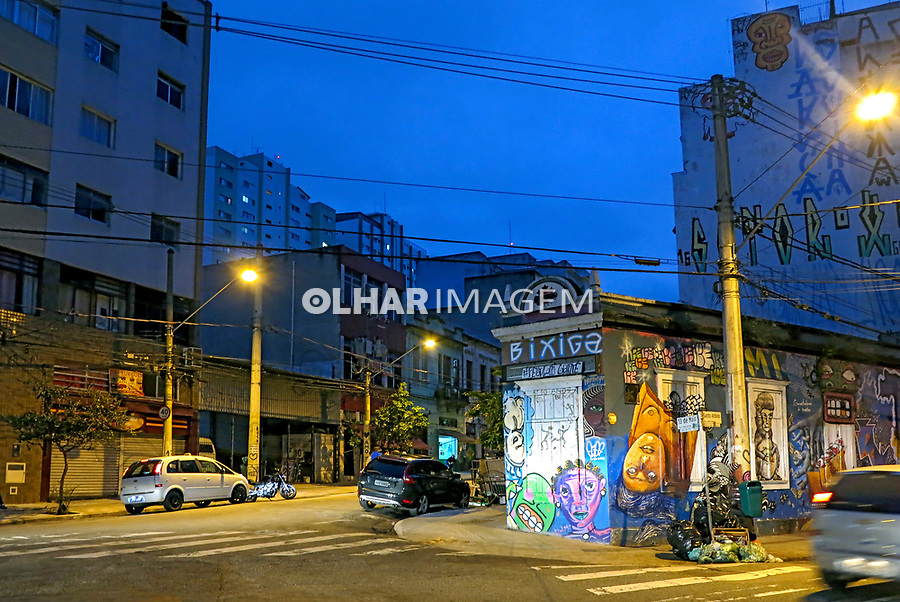 Rua no bairro Bela Vista ou Bexiga, Sao Paulo. 2017. Foto de Juca Martins.
