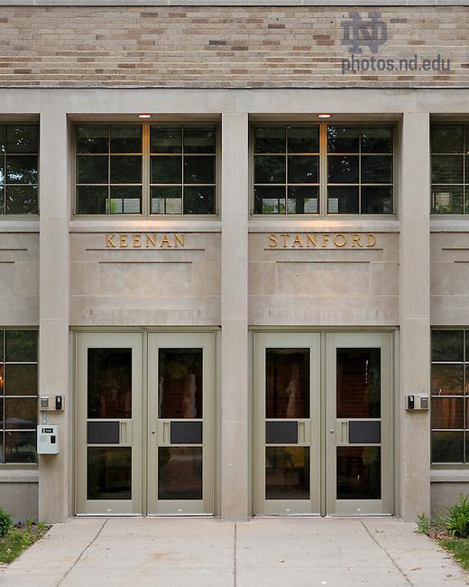 June 13, 2011; Keenan-Stanford door..Photo by Matt Cashore/University of Notre Dame
