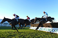 Winner of The Tysers Handicap Chase Tzar De L'Elfe (7, right)   ridden by James Davies and trained by Richard Rowe  during Horse Racing at Plumpton Racecourse on 2nd December 2019