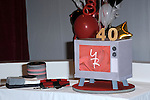"A cake in the form of a TV for the 40th Anniversary of ""The Young and The Restless"" celebrations held at CBS Television City in Los Angeles, CA. March 26, 2013."