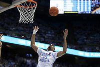 CHAPEL HILL, NC - MARCH 03: Garrison Brooks #15 of the University of North Carolina looks to grab a rebound during a game between Wake Forest and North Carolina at Dean E. Smith Center on March 03, 2020 in Chapel Hill, North Carolina.