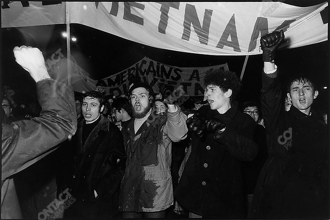 Demonstration against the Vietnam war, Paris, France, February 1968