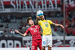 Jiangsu FC Forward Alex Teixeira (R) fights for the ball with Shanghai FC Defender Fu Huan (L) during the AFC Champions League 2017 Round of 16 match between Shanghai SIPG FC (CHN) vs Jiangsu FC (CHN) at the Shanghai Stadium on 24 May 2017 in Shanghai, China. Photo by Marcio Rodrigo Machado / Power Sport Images