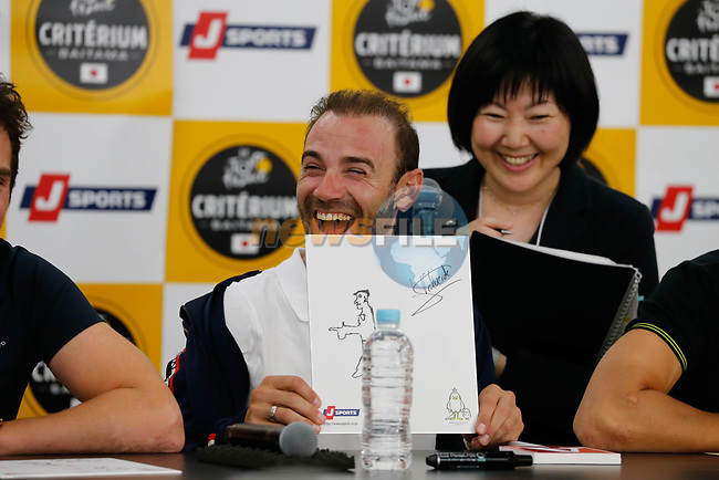 World Champion Alejandro Valverde (ESP) at the media day before the 2018 Saitama Criterium, Japan. 3rd November 2018.<br /> Picture: ASO/Yuzuru Sunada | Cyclefile<br /> <br /> <br /> All photos usage must carry mandatory copyright credit (© Cyclefile | ASO/Yuzuru Sunada)