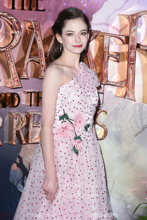 LONDON, UK. November 01, 2018: MacKenzie Foy at the European premiere of &quot;The Nutcracker and the Four Realms&quot; at the Vue Westfield, White City, London.<br /> Picture: Steve Vas/Featureflash
