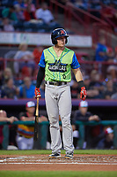 Las Ardillas Voladoras de Richmond Ryan Howard (6) at bat during an Eastern League game against the Erie Piñatas on August 28, 2019 at UPMC Park in Erie, Pennsylvania.  Richmond defeated Erie 4-3 in the second game of a doubleheader.  (Mike Janes/Four Seam Images)