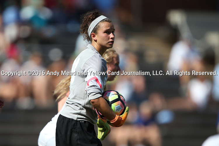 21 August 2016: North Carolina's Lindsey Harris. The University of North Carolina Tar Heels hosted the University of North Carolina Charlotte 49ers in a 2016 NCAA Division I Women's Soccer match. UNC won the game 3-0