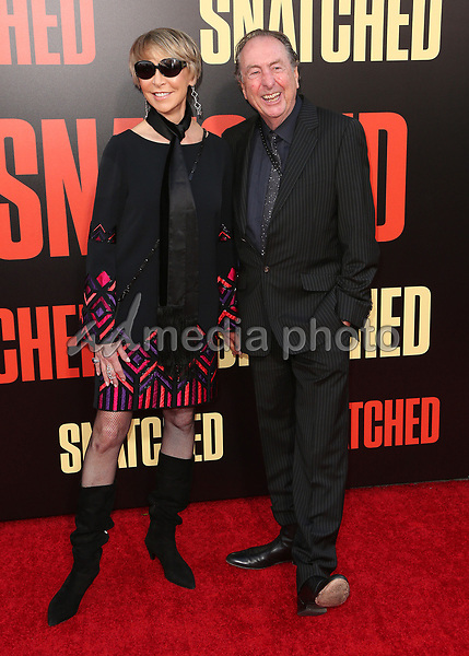 "10 May 2017 - Westwood, California - Eric Idle, Tania Kosevich. ""Snatched"" World Premiere held at the Regency Village Theatre. Photo Credit: AdMedia"