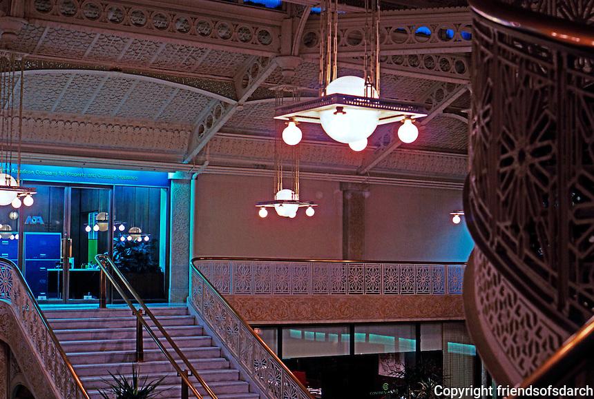 F.L. Wright: Rookery Building Lobby. 1905   Photo '76.