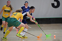 Japan&rsquo;s Rei Goto in action during the World Floorball Championships 2017 Qualification for Asia Oceania Region Final - Australia v Japan at ASB Sports Centre , Wellington, New Zealand on Sunday 5 February 2017.<br /> Photo by Masanori Udagawa<br /> www.photowellington.photoshelter.com.