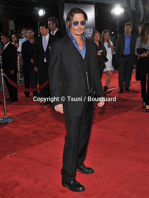 Johnny Depp  -<br /> Los Angeles Film Festival Public Enemies Premiere at the Westwood Village Theatre In Los Angeles.