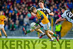 Robert Wharton South Kerry in Action against Darragh O'Doherty Legion in the Kerry County Senior Football Final at Fitzgerald Stadium on Sunday.