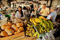 Shoppers look for farm-fresh fruits and vegetables at the Charlotte Regional Farmers Market, one of five farmers markets owned by the state of North Carolina and operated by the NC Department of Agriculture and Consumer Services (NCDA&CS). The year-round market, located at 1801 Yorkmont Road, Charlotte, NC, sells everything from fresh produce to fresh pork and beef, ostrich, emu, baked goods, jams, jellies, crafts, plants and more.