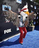 """LOS ANGELES - OCTOBER 4: """"The Eagle"""" from FOX's Masked Singer attends the kick-off event for the """"WWE Friday Night Smackdown on FOX"""" at Staples Center on October 4, 2019 in Los Angeles, California. (Photo by Frank Micelotta/Fox Sports/PictureGroup)"""