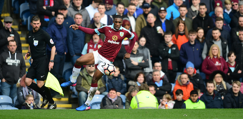 Burnley's Tendayi Darikwa<br /> <br /> Photographer Chris Vaughan/CameraSport<br /> <br /> Emirates FA Cup Fifth Round - Burnley v Lincoln City - Saturday 18th February 2017 - Turf Moor - Burnley <br />  <br /> World Copyright &copy; 2017 CameraSport. All rights reserved. 43 Linden Ave. Countesthorpe. Leicester. England. LE8 5PG - Tel: +44 (0) 116 277 4147 - admin@camerasport.com - www.camerasport.com