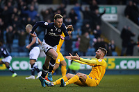 Aiden O'Brien scores Millwall's first goal and celebrates during Millwall vs Preston North End, Sky Bet EFL Championship Football at The Den on 13th January 2018