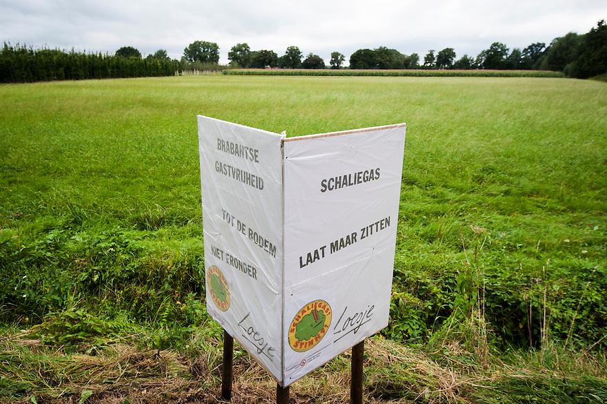 Nederland, Haaren, 14 sept  2013<br /> Lokatie voor proefboringen naar schaliegas te Haaren<br /> Foto(c): Michiel Wijnbergh