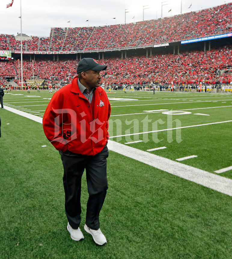 Gene Smith the director of athletics at The Ohio State University against Michigan Wolverines at Ohio Stadium in Columbus, Ohio on November 29, 2014.  (Dispatch photo by Kyle Robertson)