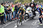 Esteban Chaves (COL) Mitchelton-Scott attacks from the breakaway group on the slopes of Mount Etna near the finish of Stage 6 of the 2018 Giro d'Italia, running 169km from Caltanissetta to the Etna (Osservatorio Astrofisico), Sicily, Italy. 10th May 2018.<br /> Picture: LaPresse/Fabio Ferrari | Cyclefile<br /> <br /> <br /> All photos usage must carry mandatory copyright credit (&copy; Cyclefile | LaPresse/Fabio Ferrari)