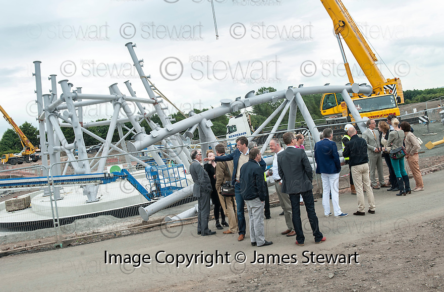 A delegation from Holland visit The Helix site.