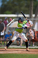 Robert Post during the WWBA World Championship at the Roger Dean Complex on October 20, 2018 in Jupiter, Florida.  Robert Post is a catcher from Chuluota, Florida who attends Hagerty High School and is committed to Embry-Riddle.  (Mike Janes/Four Seam Images)